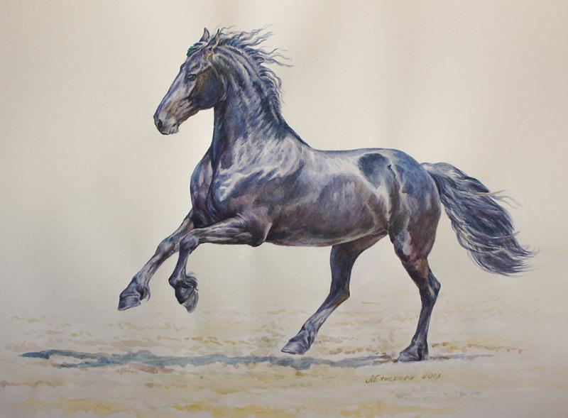 акварельный рисунок по фото Артема Макеева 56х42