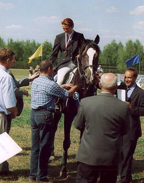 Лариса Борисова на награждении.