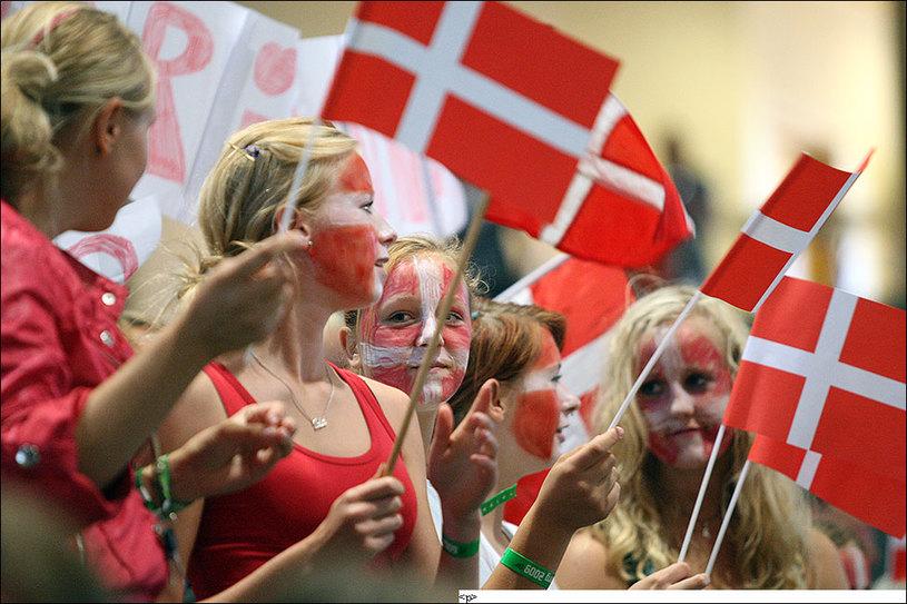 Болельщики датской команды