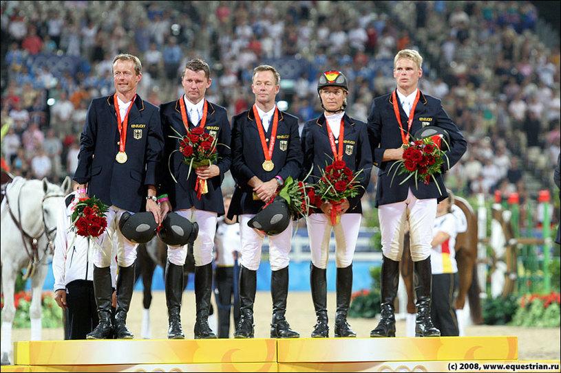 Церемония награждения команд - Германия
