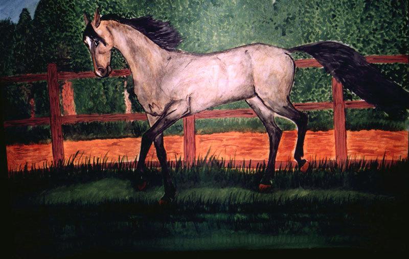 Акварель, 50х80. Картина находится на кафедре кормопроизводства в Белорусской с-х академии. 1997 г.