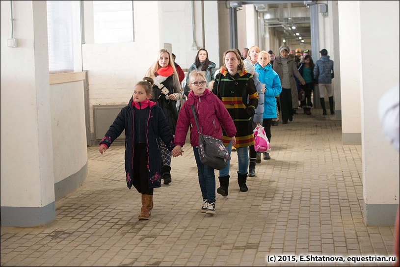 Дети на экскурсии по Maxima Stables