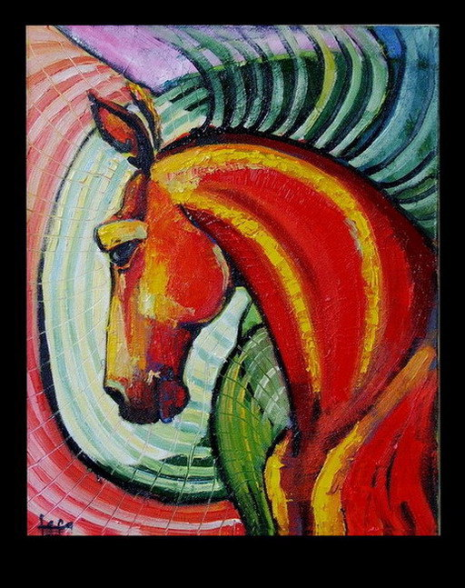 Пордрет Доброй лошади.  х.м.  40-50см.