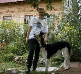 Раздолье, автор и собака Гарда