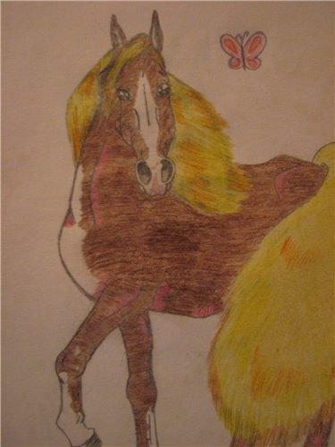 Вот летом нарисовала лошадку,вообще в таком ракурсе рисовать я не умею так что вот так вот пока что)))