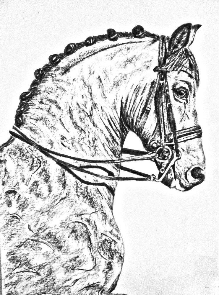 черный карандаш, А5, по фото Ксении Римской