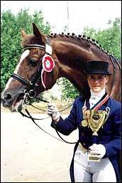 Ольга Александровская - этап кубка Мира по выездке, Минск, 2002
