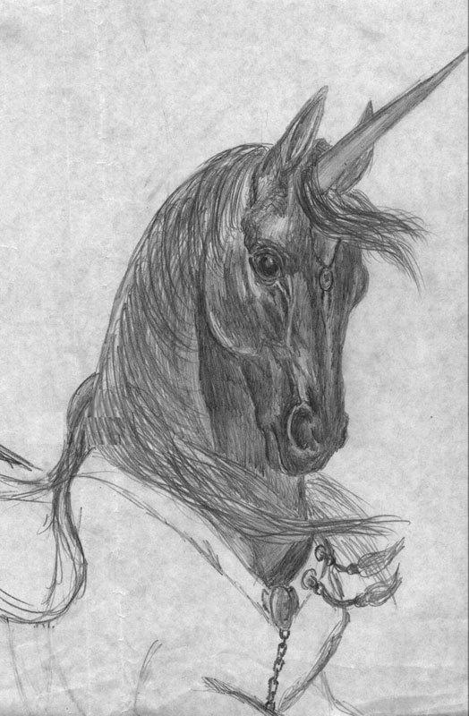 Сошедший с небес. Рисунок с картины Б.Валеджо