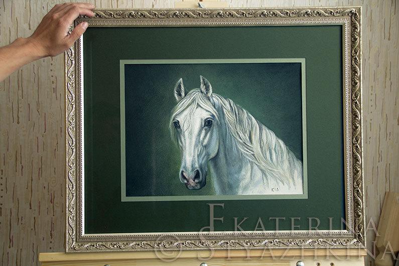 Пастель по фото Е. Гуслярова. Размер без рамы 30х42 см. Продаю.