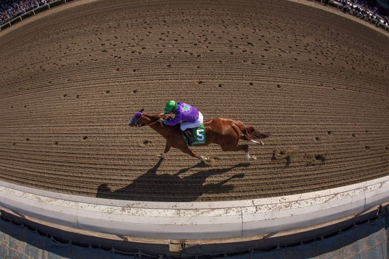 Ипподром Santa Anita Park, скачка Santa Anita Derby 2014 год