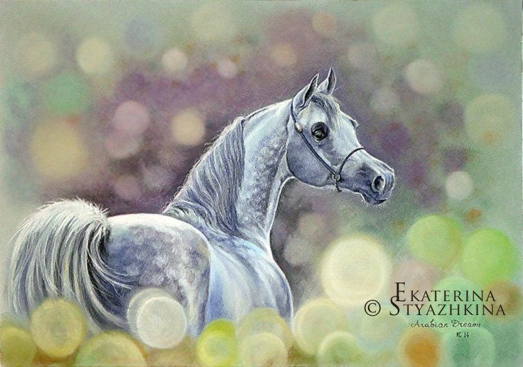 Пастель, 40х30 см. Лошадь взята с фото Gigi Grasso. Продаю.