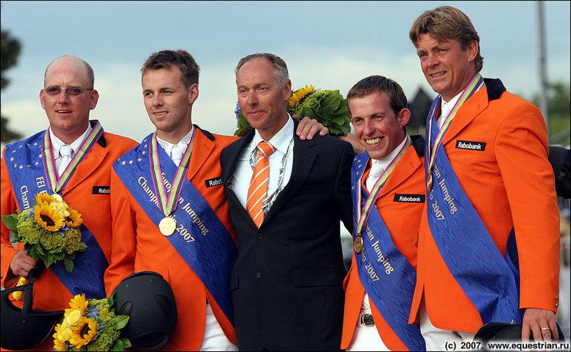Церемония награждения - команда Нидерландов