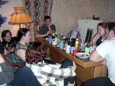 Отмечание дня рождения Сластены в домике в деревне