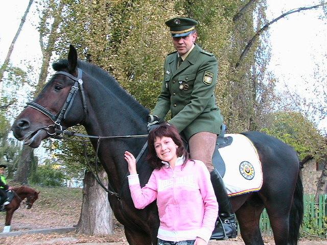 А это немецкая конная полиция