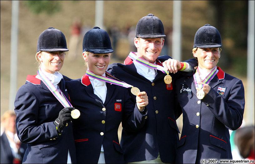 Церемония награждения - команда Великобритании