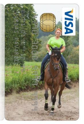 Заказала кредитку со своей лошадкой. Рекомендую! :)