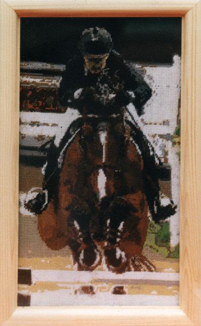 Саманта Макинтош   и ее конь Royal Discovery