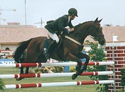 Пиа Панцу на Карузо (конкур). Всемирные конные игры в Хересе.
