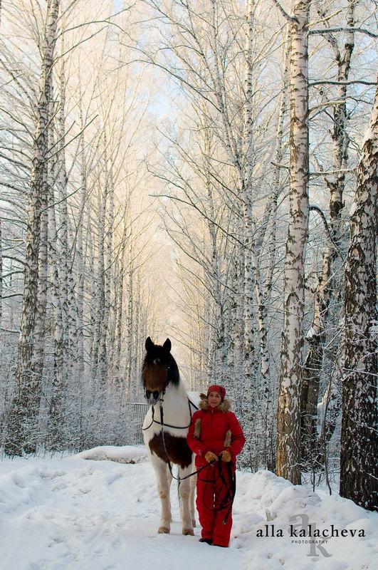 Настя и Зигзаг этой зимой