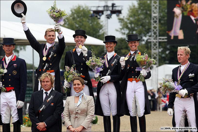 Команда Голландии - чемпионы Европы