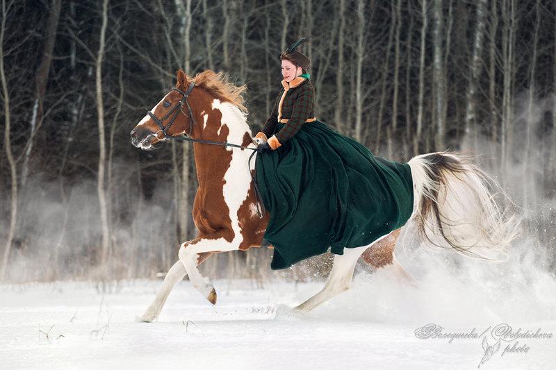 Костюмированная фотосессия Ани и жеребца по кличке Принц