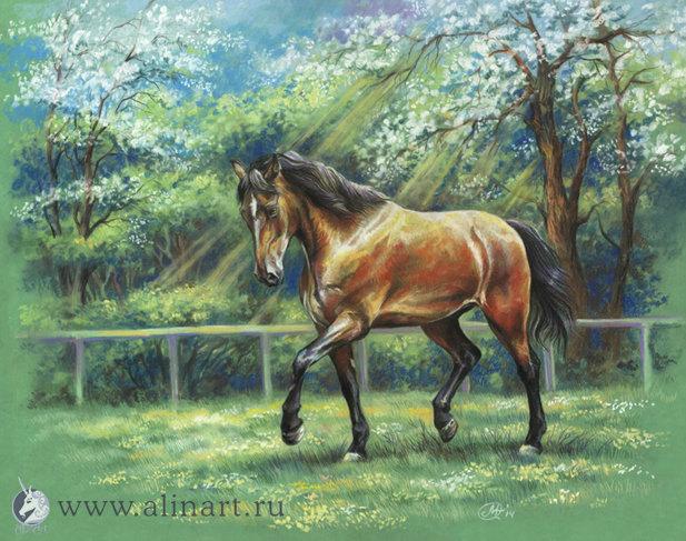 """по фото """"equine images"""" 50х40, пастель, работа продается"""