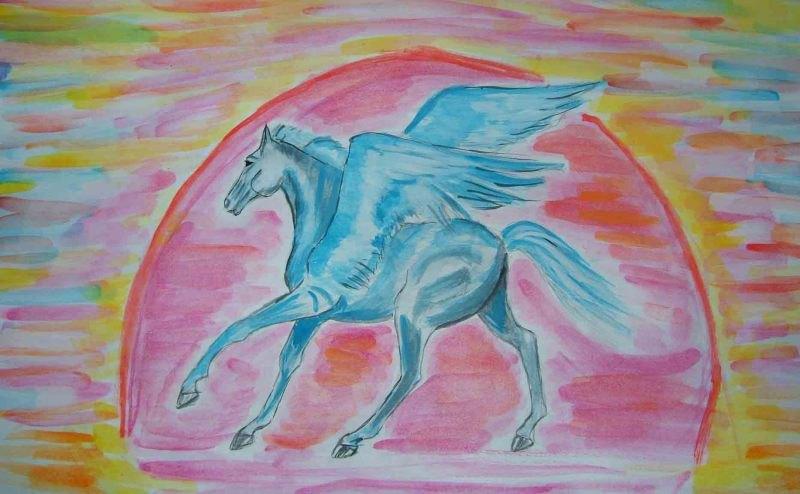 вот такая голубая лошадка