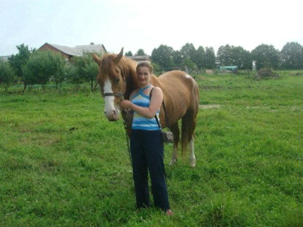 Первый день знакомства с этой лошадью