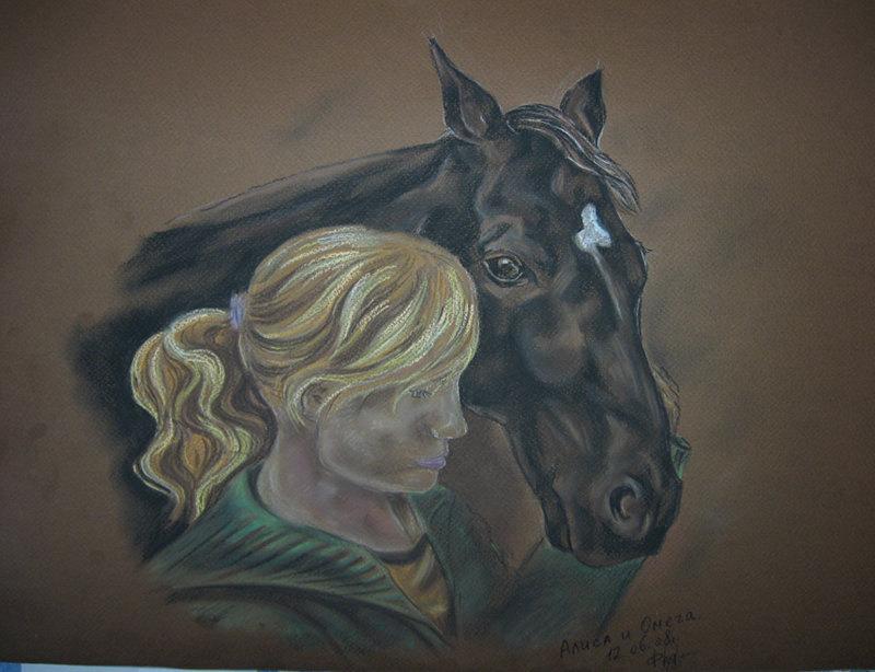 Моя подруга и голштинская кобыла Омега. Можно критику по лошади?
