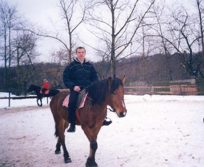 Ооооч упрямая лошадка была.. январь, 2002