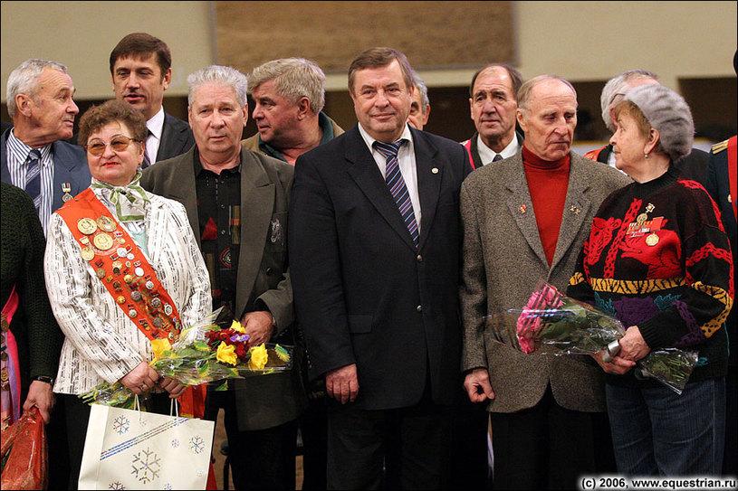 Президент ФКСР Г.Н.Селезнев и ветераны конного спорта
