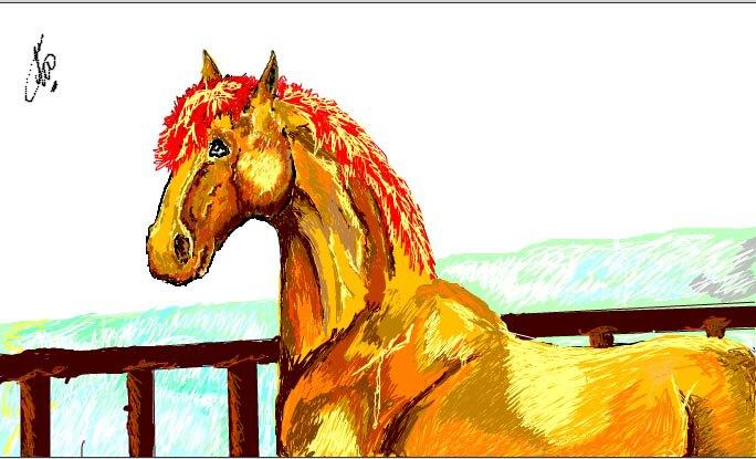 Рыжее Солнце На Белом Снегу. Мой рисунок! =)