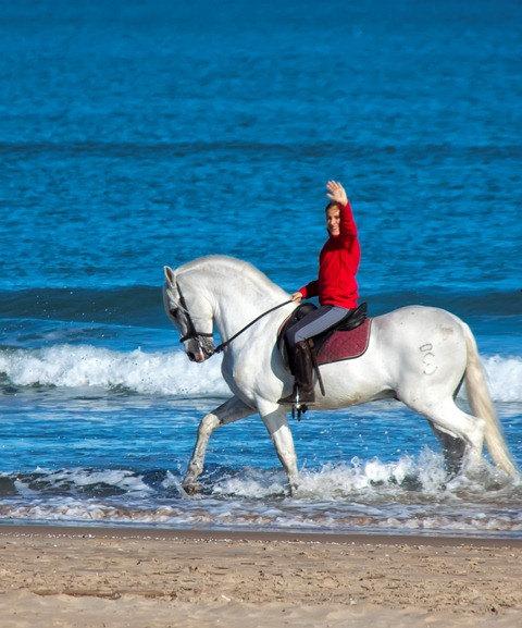Прогулка по пляжу Валенсии. Верхом на солнце