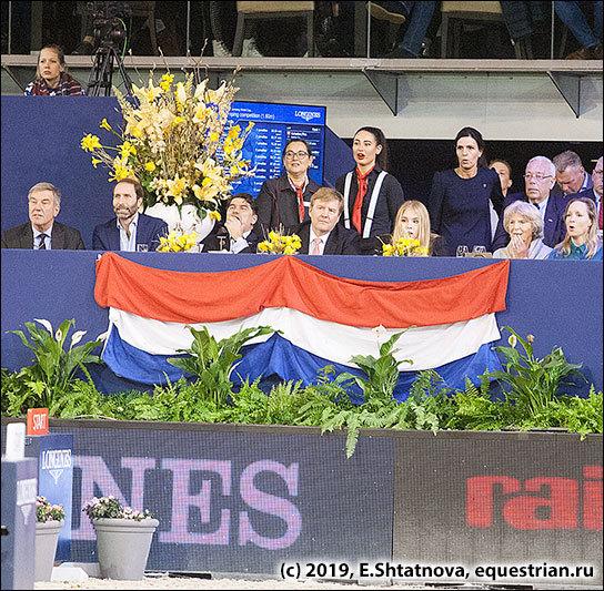 Король Нидерландов Виллем-Александер на трибуне турнира