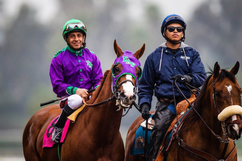 Ипподром Santa Anita Park 2015 год, скачка San Antonio Invitational Stakes (Gr. 2). Второе место.