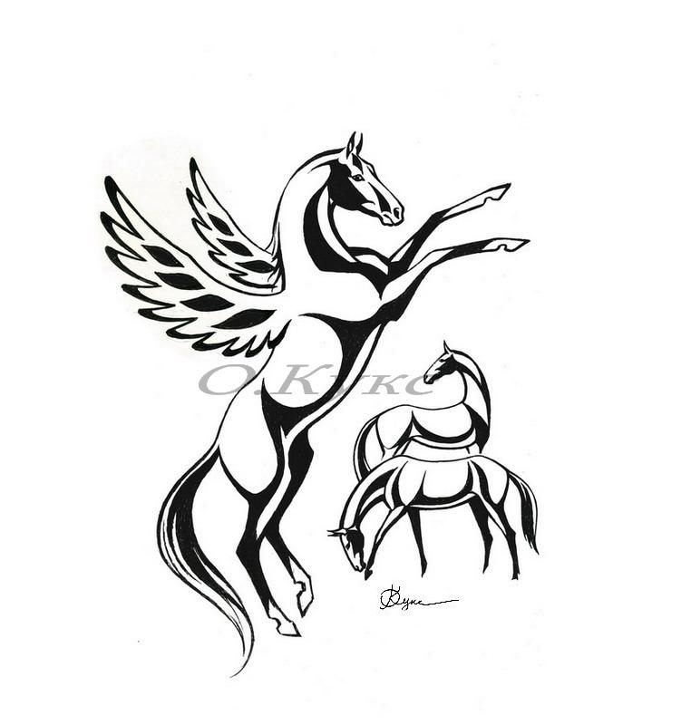 Стилизация лошади рисунки